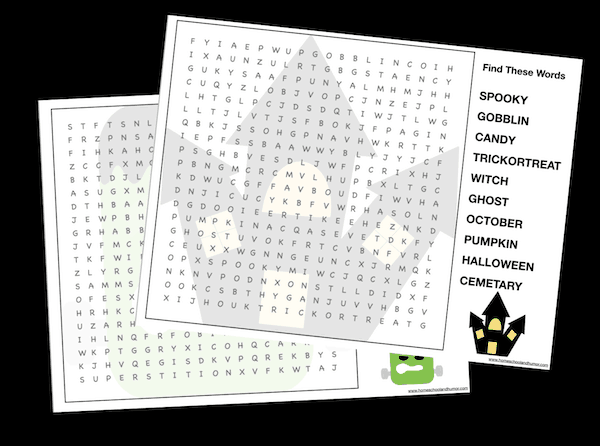 Halloween Word Search Puzzle Bundle