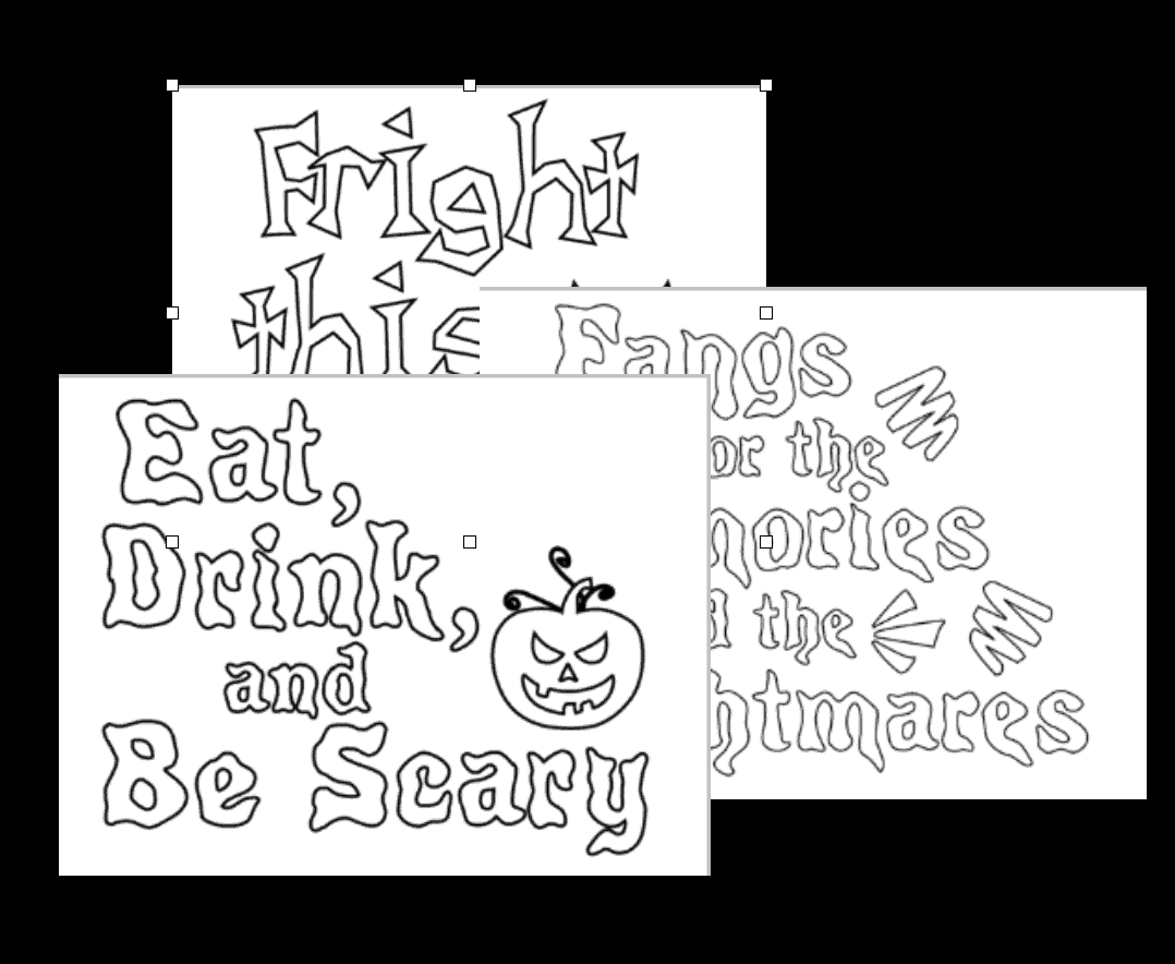 Halloween Coloring Pages Quotes Bundle