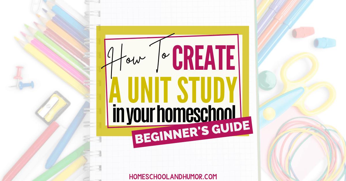 how to write a unit study