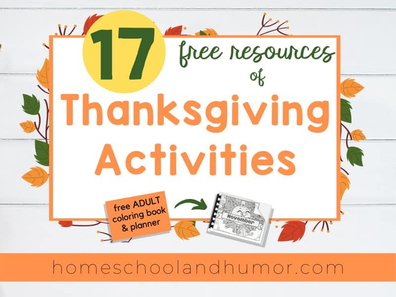 17 free resources of Thanksgiving Activities