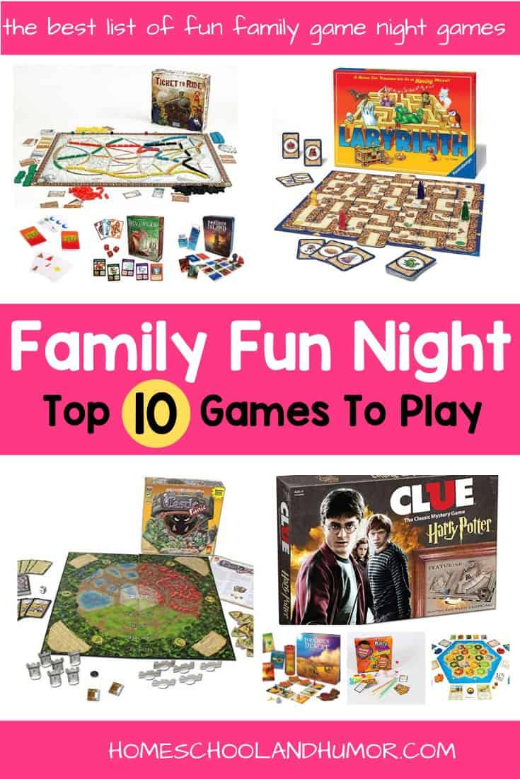 10 Best Games To Play For Family Game Night