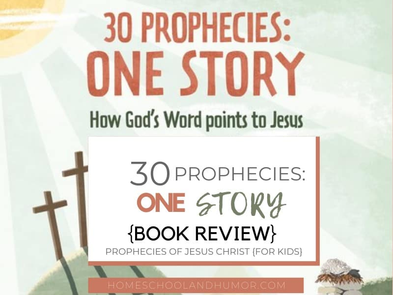 Wouldn't you love to read the prophecies of Jesus Christ and see how they all have been fulfilled? You can with this wonderful prophecies book for kids called 30 Prophecies: One Story. Read the review to learn so much more details about every prophecy that involves Jesus Christ, like the timeline date, who God's Messenger was declaring each prophecy, how you can apply what you learned to your life, and suggestions on what the prophecies symbolize and why they're important even for today's time. #propheciesforkids #prophecies #Christianbooksforkids