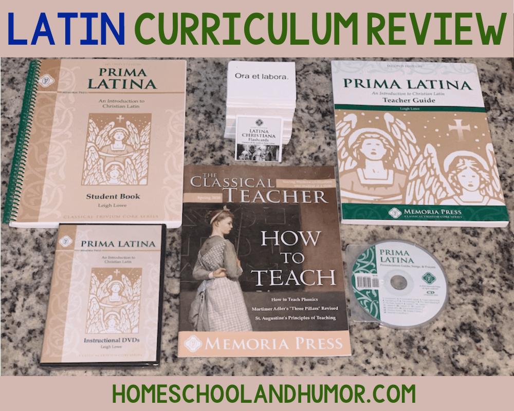 Memoria Press Prima Latina Review