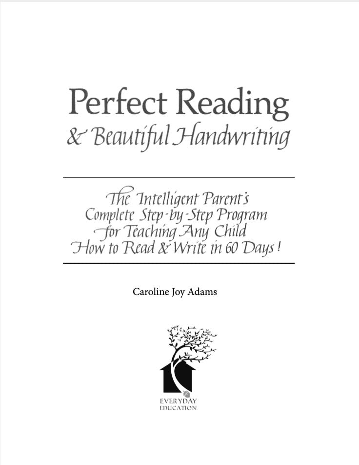Use the Perfect Reading, Beautiful Handwriting in your homeschool for kids to learn beautiful handwriting in italics and read at the same time!
