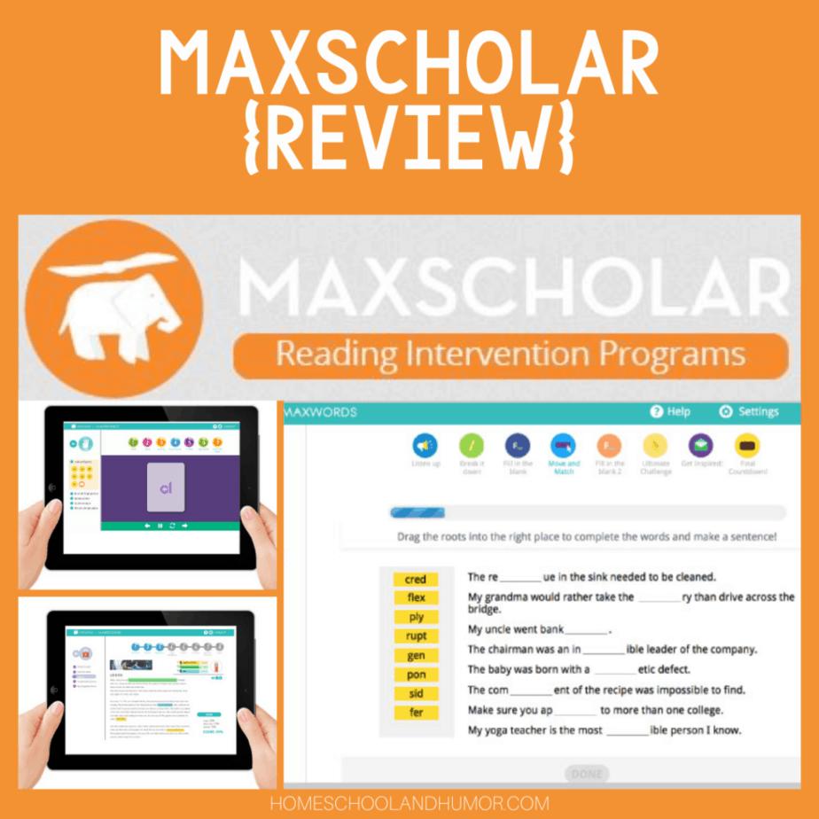 MaxScholar - A Reading Intervention Program {Review}