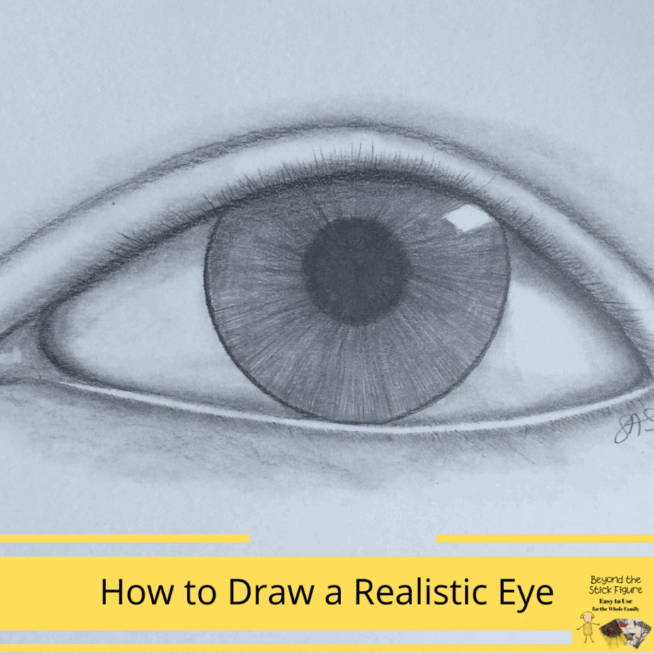 How to Draw a Realistic Eye by Beyond the Stick Figure for Giveaway, Homeschool and Humor homeschool curriculum giveaway 2020
