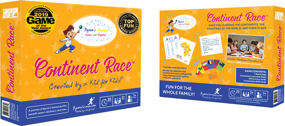 Continent Race by Byron's Games for Giveaway, Homeschool and Humor homeschool curriculum giveaway 2020