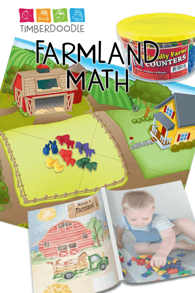 Timberdoodle Farmlands for toddlers is a wonderful educational toy for little ones to start learning the basics of math operations! Win this in our How To Start Homeschooling giveaway by Homeschool and Humor