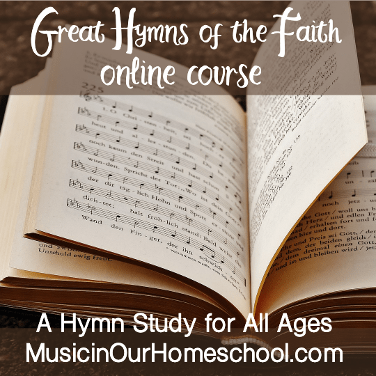Great Hymns of the Faith by Music in our Homeschool for Giveaway, Homeschool and Humor homeschool Curriculum Giveaway 2020
