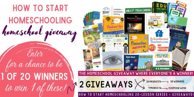 how to start homeschool giveaway
