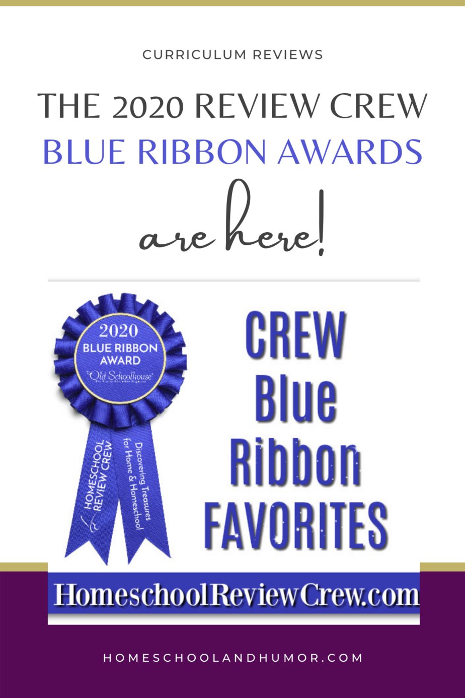 My Favorite Homeschool Curriculums: The 2020 Crew Blue Ribbon Awards