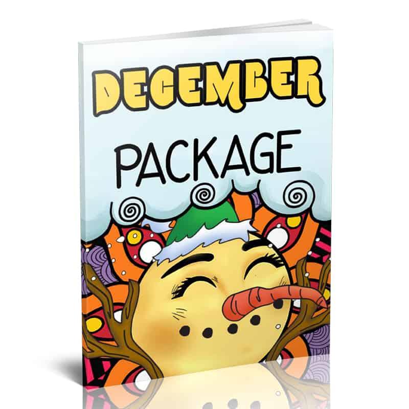 December Adult Color Planner