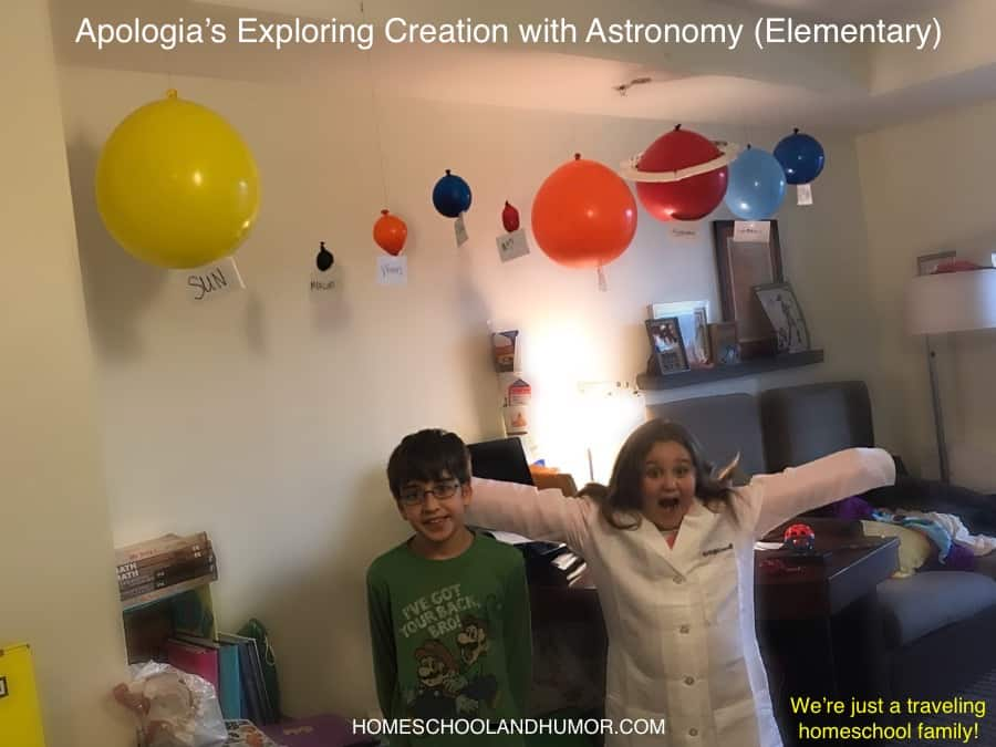 our homeschool experience include Apologia's Exploring Creation with Astronomy