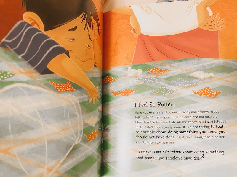 I Feel So Rotten from A Whole Bunch of Feelings book, one of the many great books about feelings for children