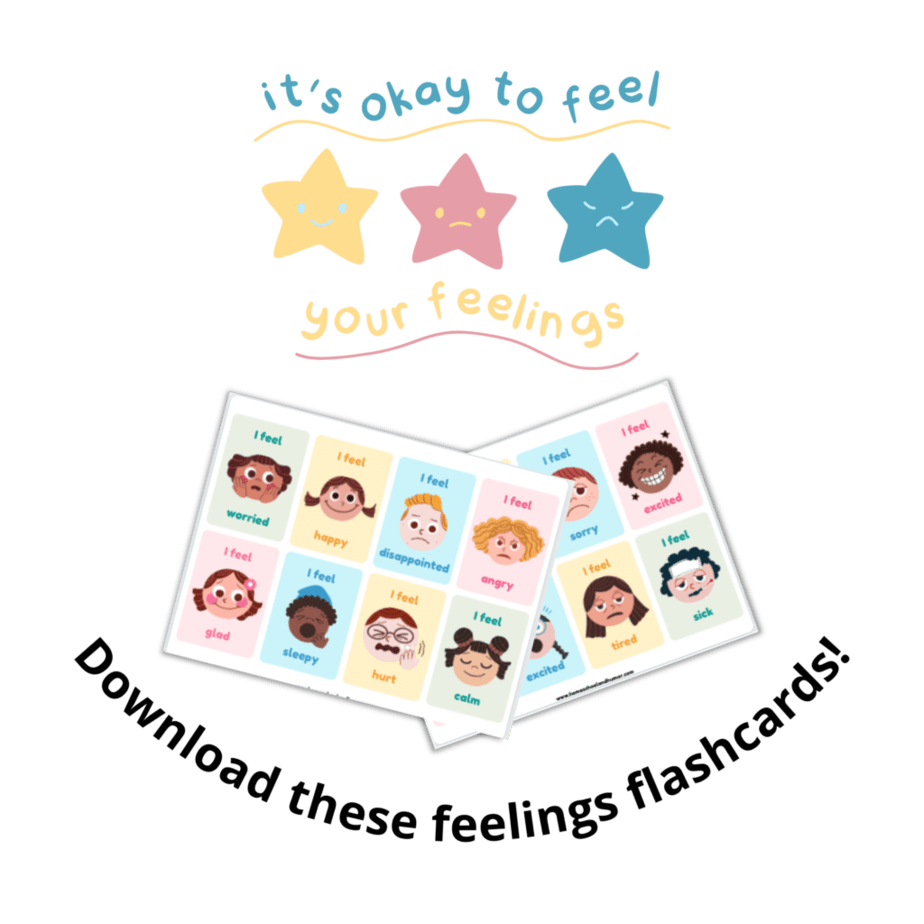 Flashcards to use for books about feelings for preschool