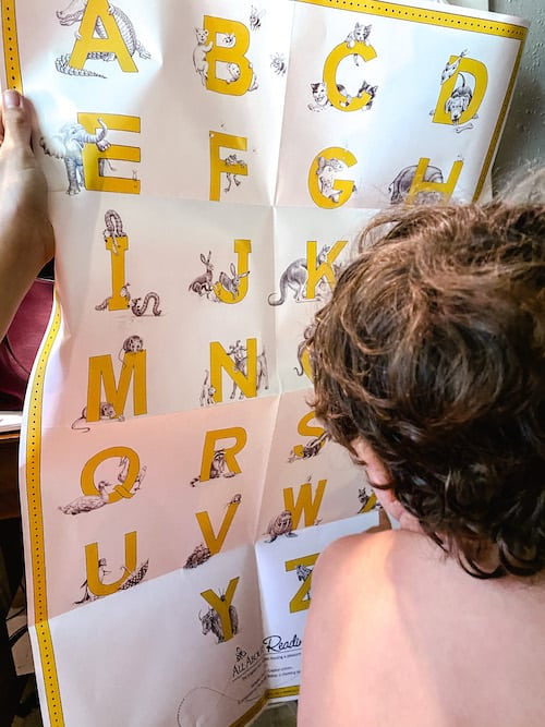 All About Reading Alphabet Chart