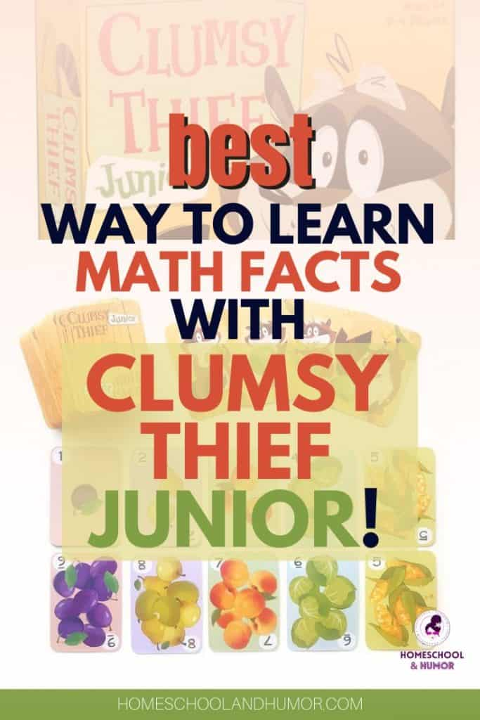 What is the best way to learn addition and subtraction facts? Through super fun math games like Clumsy Thief Junior - a card game that helps kids retain their basic math facts, all while having fun! Read all about it.