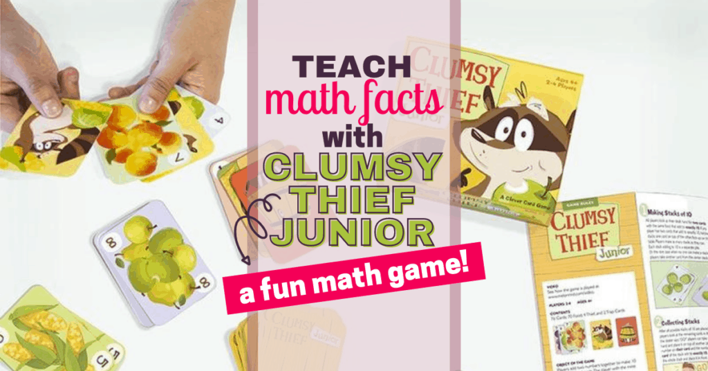 Best Way To Learn Math Facts with Clumsy Thief Junior