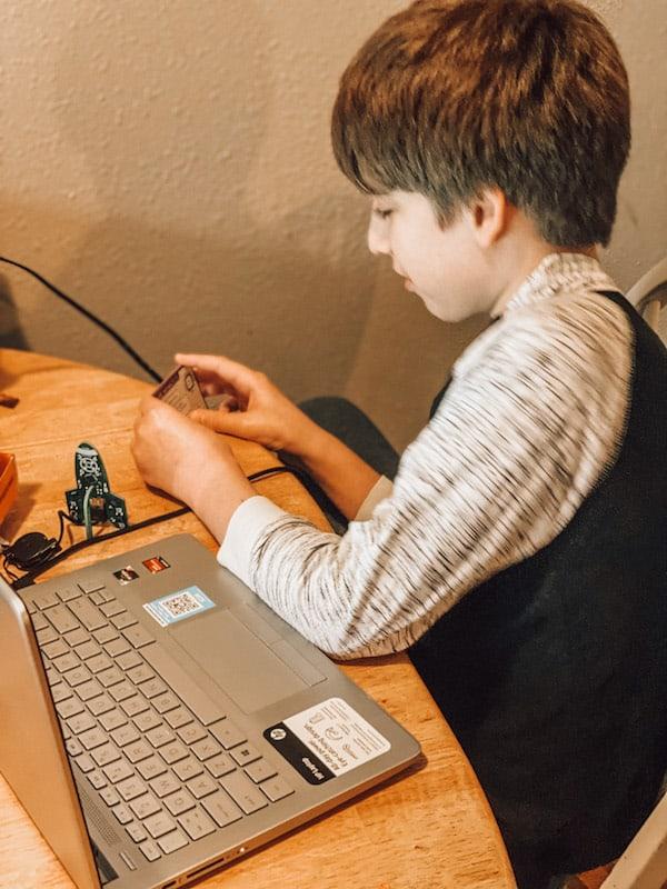 Daniel playing code rocket